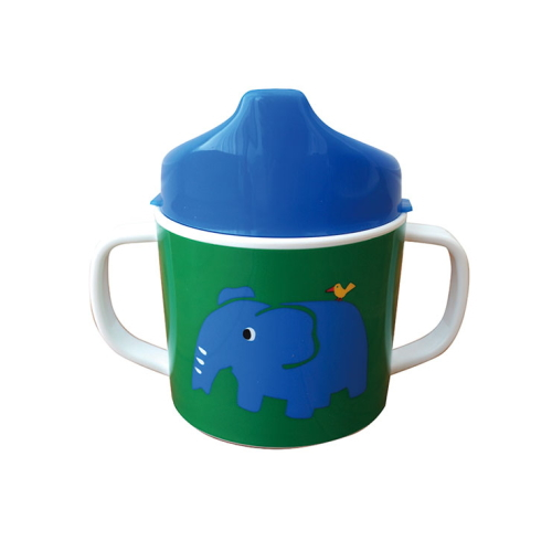 Colorful Zoo both hands mug (with lid) GR * BL