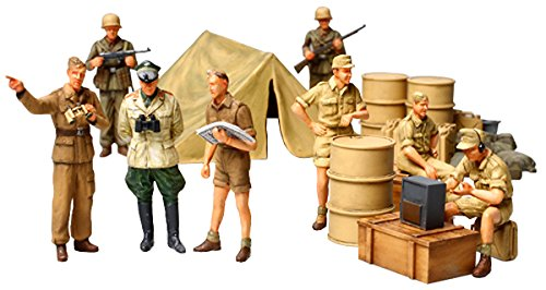 Tamiya 1/48 Military Miniature Series No.61 WWII German Africa Corps Infantry Set