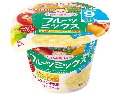 Let's eat fruits! 60g 9 Months Baby Food Mixed Fruits