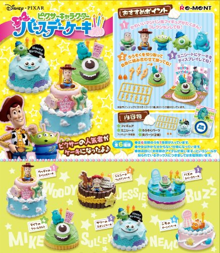 Pixar Character Birthday Cake 6Pack BOX
