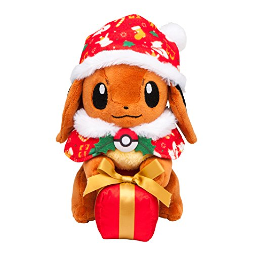 Eevee with a Pokemon Center Original stuffed toy gift box