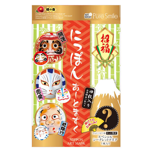 Pure Smile Shofuku Japan Art mask BOX set 4 pieces