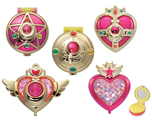 Pretty Soldier Sailor Moon Transformation Compact Mirror All 5 Set