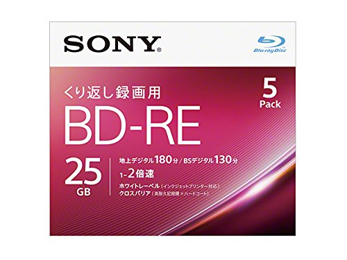 Recording for BD-RE Ver.2.1 1-2 double-speed 25GB 5 sheets [ink-jet printer correspondence] 5BNE1VJPS2
