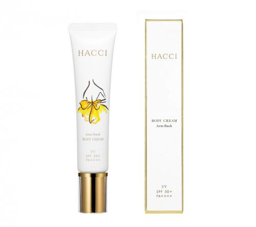 HACCI body cream Arm · Back UV 40g