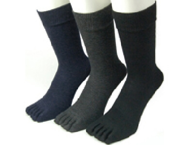 Silver Ion Five Toes Socks Plain 3 Colors