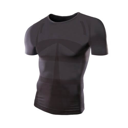 MORE PRESSURE Compression Shirt Short Sleeves Crew Neck