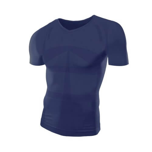 MORE PRESSURE Compression Shirt Short Sleeves V Neck