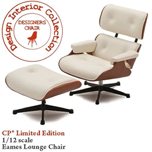 ESIGNERS CHAIR-CP01LT / No3 Eames lounge chair and ottoman 1/12 scale No.3