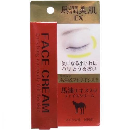 UmaJun beautiful skin EX horse oil extract containing incense 18g of face cream cherry