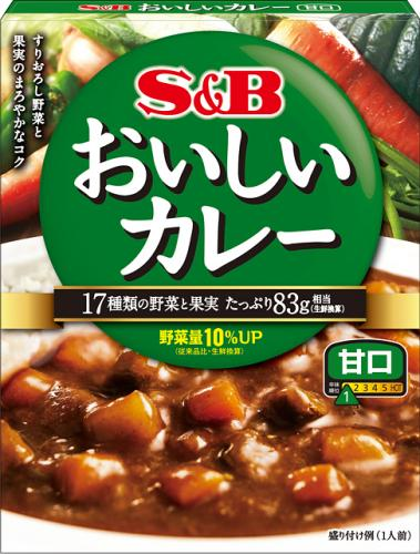 Delicious curry sweet 180g x6 pieces of S & B convince