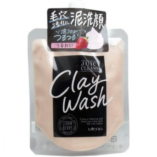 Utena Juicy Cleanse clay wash Strawberry 110g