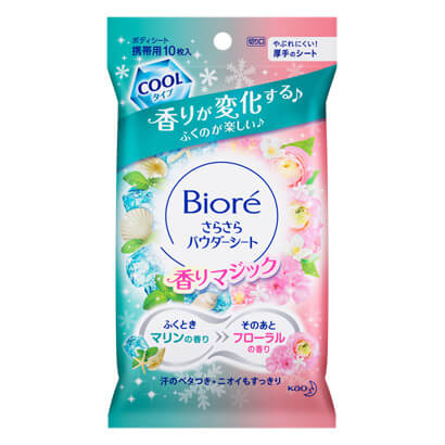Biore a free-flowing powder sheet scent Magic Marine to floral scent of [portable] 10 sheets
