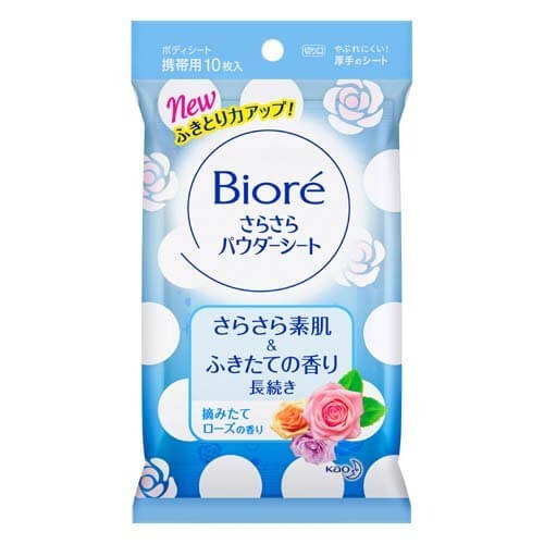 Biore a free-flowing powder sheet freshly picked rose scent of [portable] 10 sheets