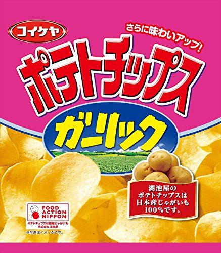 [Box] selling Mizuumichiya potato chips garlic 55g (12 pieces)