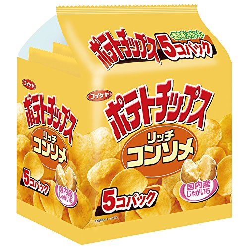 Mizuumichiya potato chips rich consomme Tabekiri 5-pack 150g x6 pieces