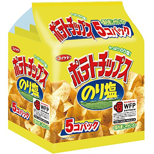Mizuumichiya potato chips nori salt Tabekiri 5-pack 150g x6 pieces