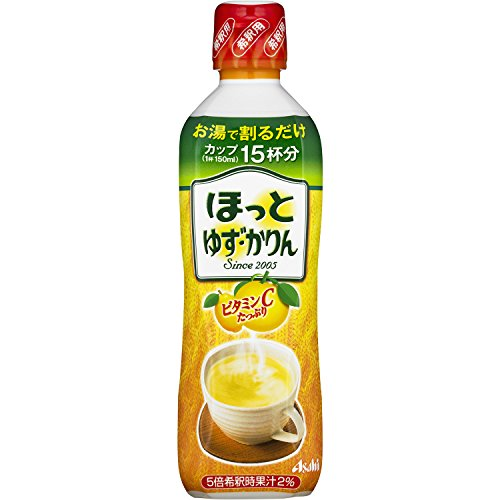 Hottoyuzu-Karin dilution for pet 450ml x12 pieces