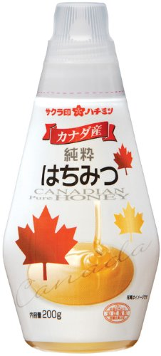 Sakura mark Canadian pure honey 200g x12 pieces