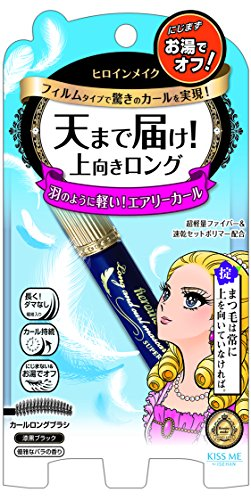 KissMe Heroine Make Long & Curl Mascara Super Film - Jet Black (6g)