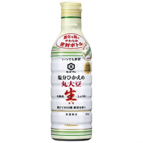 Kikkoman salt sparingly whole soybeans and soy sauce 450ml x12 pieces
