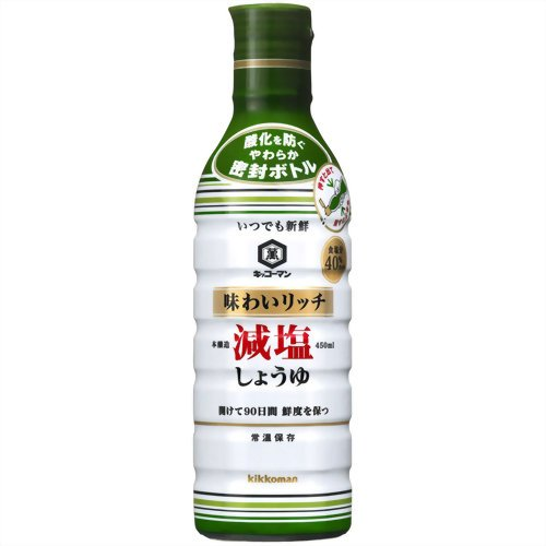 Kikkoman flavor-rich low-salt soy sauce 450ml x6 pieces