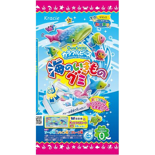 Kracie of colorful piece sea creatures gummy 18g