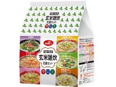 Healthy Kewpie brown rice porridge 6 servings set