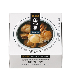 Cans That premium Hokkaido scallops smoked pickled in oil