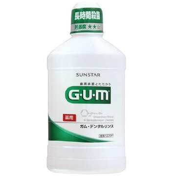 Sunstar GUM Dental Rinse 500ml