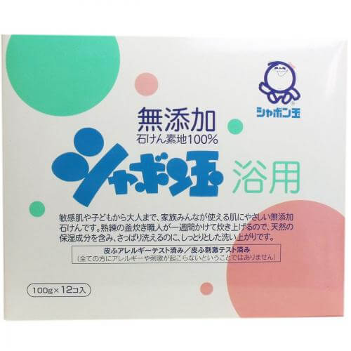 Soap bubble bath additive-free soap 100g × 12 pieces