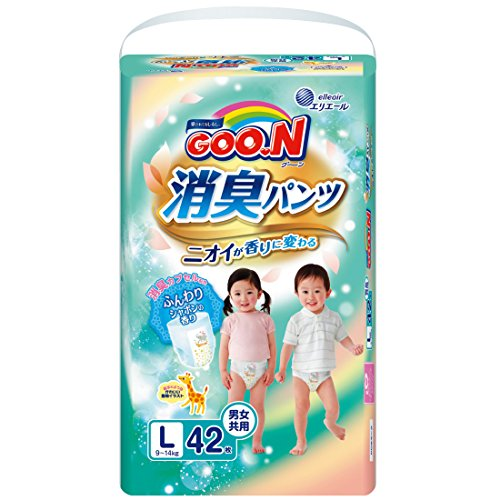 Goo.n Deodorizing Diapers L-Size (Pack of 42) Baby & Kids