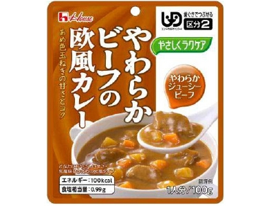 Yasashiku Rakukea soft beef European curry (100G)