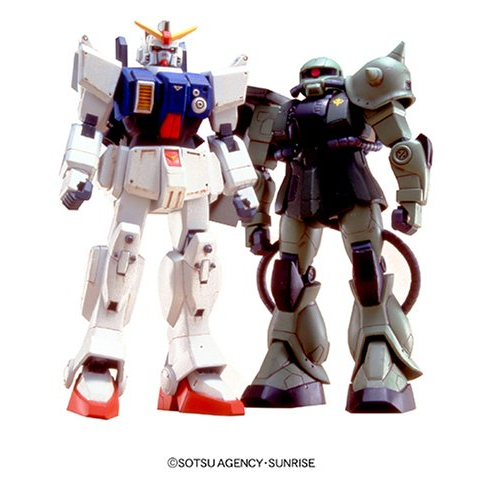 HG 1/144 RX-79 Gundam VS MS-06J Zaku II (Mobile Suit Gundam The 08MS Platoon)