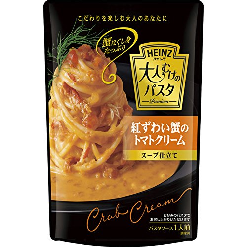 Tomato Cream Soup 180g of Heinz adults of pasta red snow crab