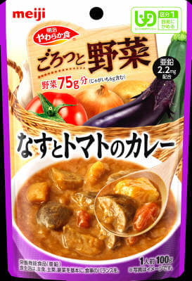 Soft diet Goro' and vegetables eggplant and tomato curry (100G)