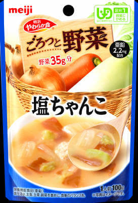 Soft diet Goro' and vegetables salt Chanko (100G)