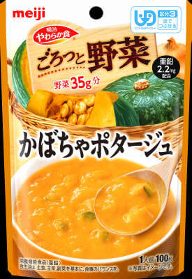 Soft diet Goro' and vegetables pumpkin potage (100G)
