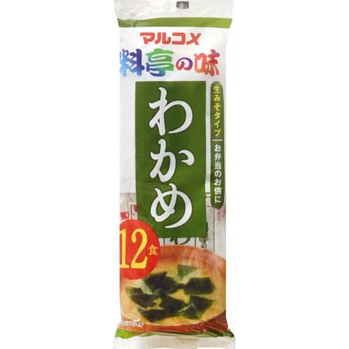 Marukome new instant raw miso soup Seaweed 12 meals