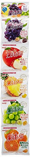 Meiji Juice Gummy Assorted Flavors 90g (Set of 12)
