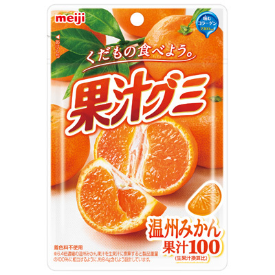 Meiji fruit juice gummy mandarin orange 51g x10 pieces
