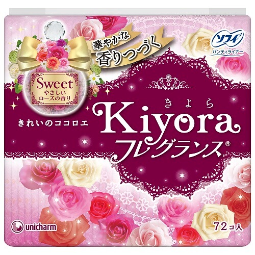 unicharm Sofy Kiyora Gentle Rose Fragrance(72 pieces)