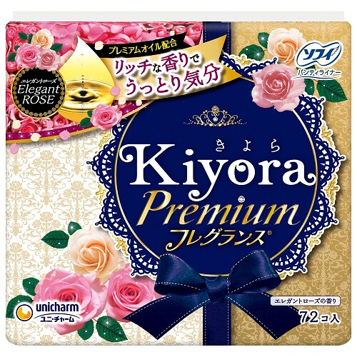 unicharm Sofy Kiyora Premium (72 pieces) Elegant Rose
