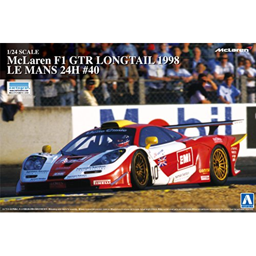 Aoshima Bunka Kyozai 1/24 Super Car Series No.20 McLaren F1 GTR Longtail 1998 24 Hours of Le Mans # 40 plastic model