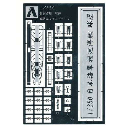 Aoshima Bunka Kyozai 1/350 Ironclad Detail Up Parts Light Cruiser Kuma-Etched Parts
