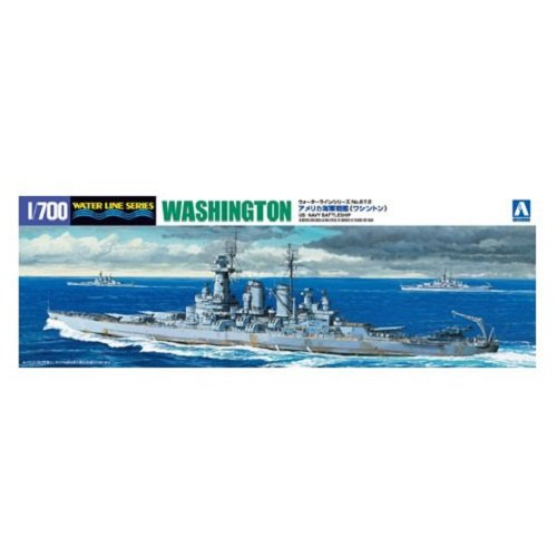 Aoshima Bunka Kyozai 1/700 Water Line Series United States Navy battleship Washington Model 612