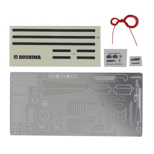 Aoshima Bunka Kyozai 1/24 Super Car Series Lamborghini Countach parts for the common etching plastic model