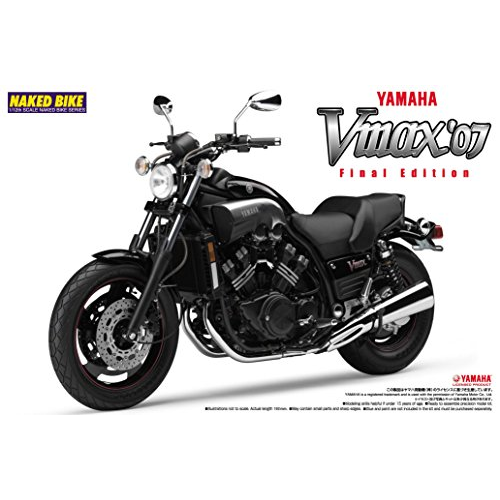 Aoshima Bunka Kyozai 1/12 Bike Series No.42 Yamaha VMAX 2007 final form Plastic