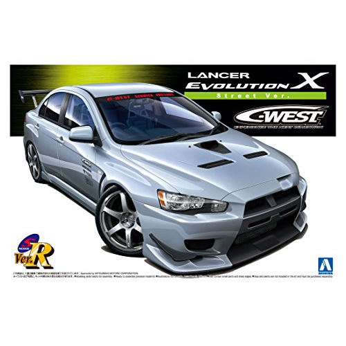 Aoshima Bunka Kyozai 1/24 S package Ver.R No.44 C-WEST Mitsubishi Lancer Evolution X Street Model Car