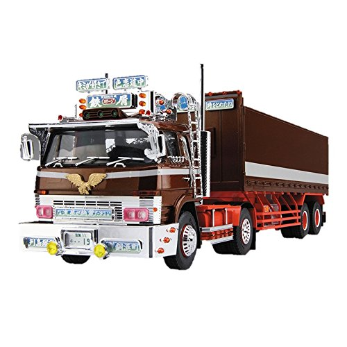 Aoshima Bunka Kyozai 1/32 Value Dekotora series stage flat box trailer plastic model of scrap Vol.41